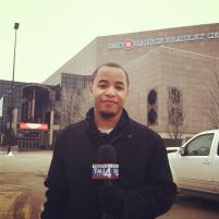 Me shooting outside of the BMO Harris Bradley Center in Milwaukee, Wisconsin.