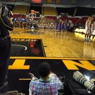 Shooting a UW-Milwaukee basketball game