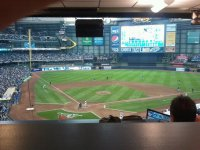 From the Press Box at Miller Park