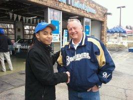 Brewers legend Jim Gantner and I