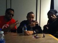Shawn and Marlon Wayans and I following our interview