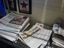 The UWM Post on the racks in Eastside Milwaukee