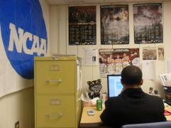 Working at the UWM Post sports desk