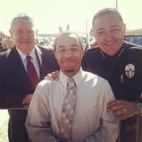 Me and Austin's Mayor and Police Chief. The Mayor is doing the bunny ears...