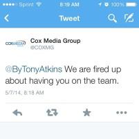 Tweet from CMG