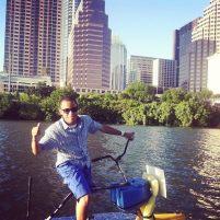Waterbikes in Downtown Austin