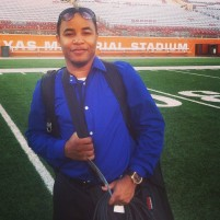 Me on the field at Texas Memorial Stadium