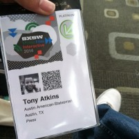 My badge for SXSW coverage